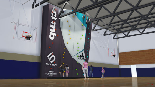 1Climb surges forward with three new climbing walls opening this summer, including the Pasadena wall sketched here.