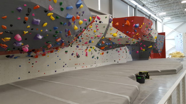 A look at the bouldering area in the new Adventure Rock.  Photo: Ad Rock