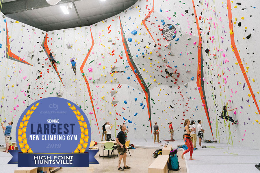 2019 2nd Largest New Climbing Gym is High Point Huntsville