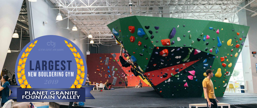 2019 Largest New Bouldering Gym is Planet Granite Fountain Valley