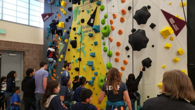 1Climb Brings Climbing to Youth - Jorgeson and Boys and Girls Club Staff Supervise Young Denver Climbers