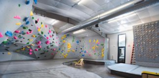 The bouldering area of Climb Iowa East Village, one of the 34 new climbing gyms to open in the US in 2019, and one built with confidence