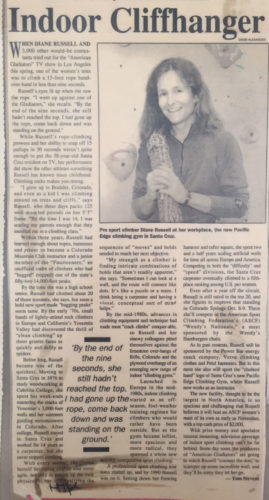 Diane Russell newspaper article from the 90s