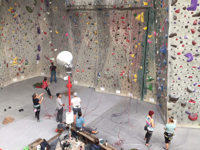 Climbing at Pacific Edge today