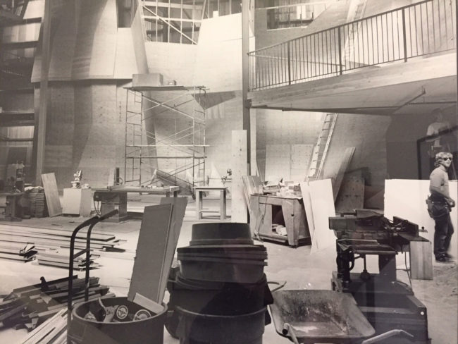 Pacific Edge gym under construction in the 90s