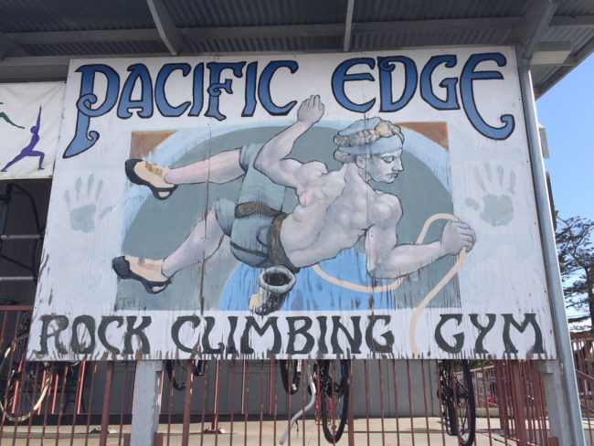 Iconic sign outside Pacific Edge