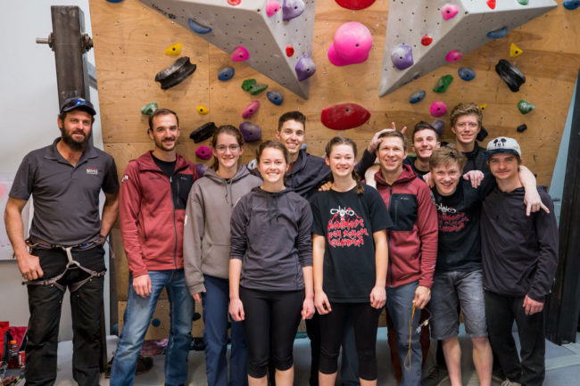 The power of high school climbing: camaraderie at Montrose High School.