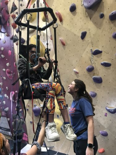 Behind the Desk with Lydia Huelskamp - Adaptive Climbing Day at Crux