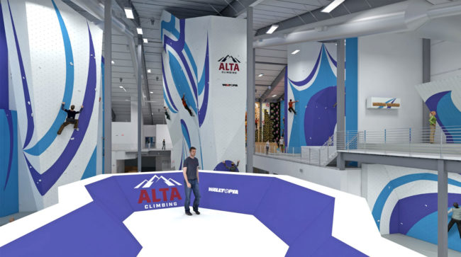 Rending of the upcoming Alta Climbing gym in Arizona