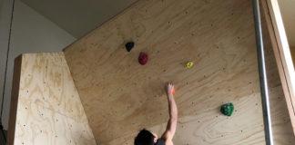 Home climbing wall to get through coronavirus lockdown