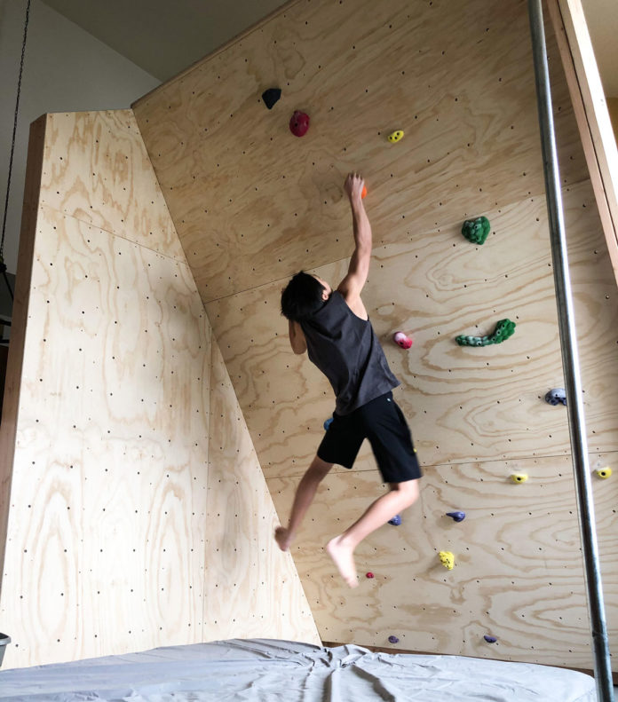 Home climbing wall to get through coronavirus lockdown