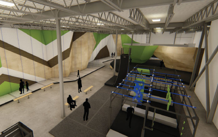 Rending of the new Aspire Climbing gym in Canada
