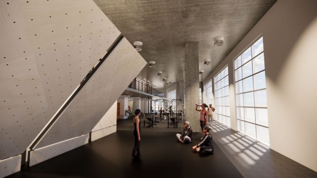 The planned fitness area at BKB Eckington