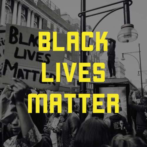 Climbing gyms support protests on social media, where many people are displaying this Black Lives Matter image as their profile picture.