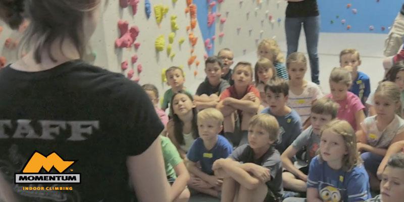youth climbers at Momentum Millcreek Utah