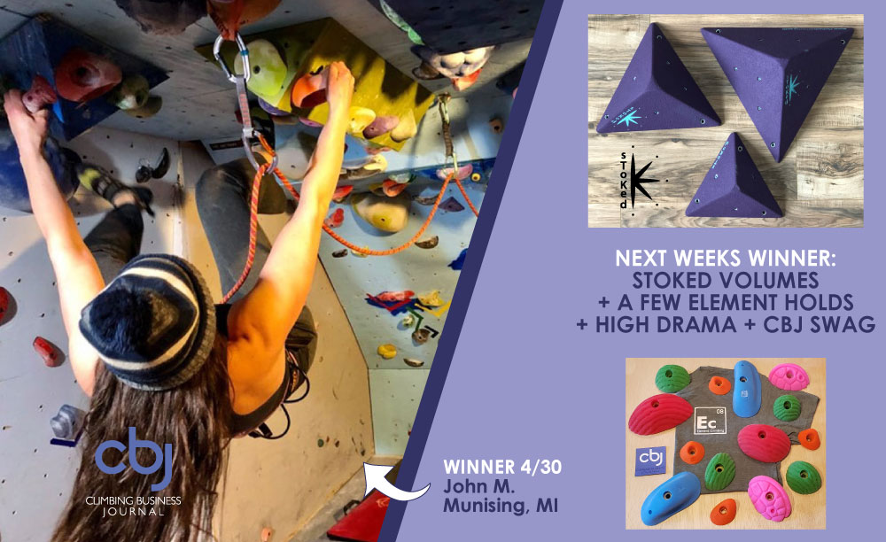Prize pack for CBJ home climbing wall of the week