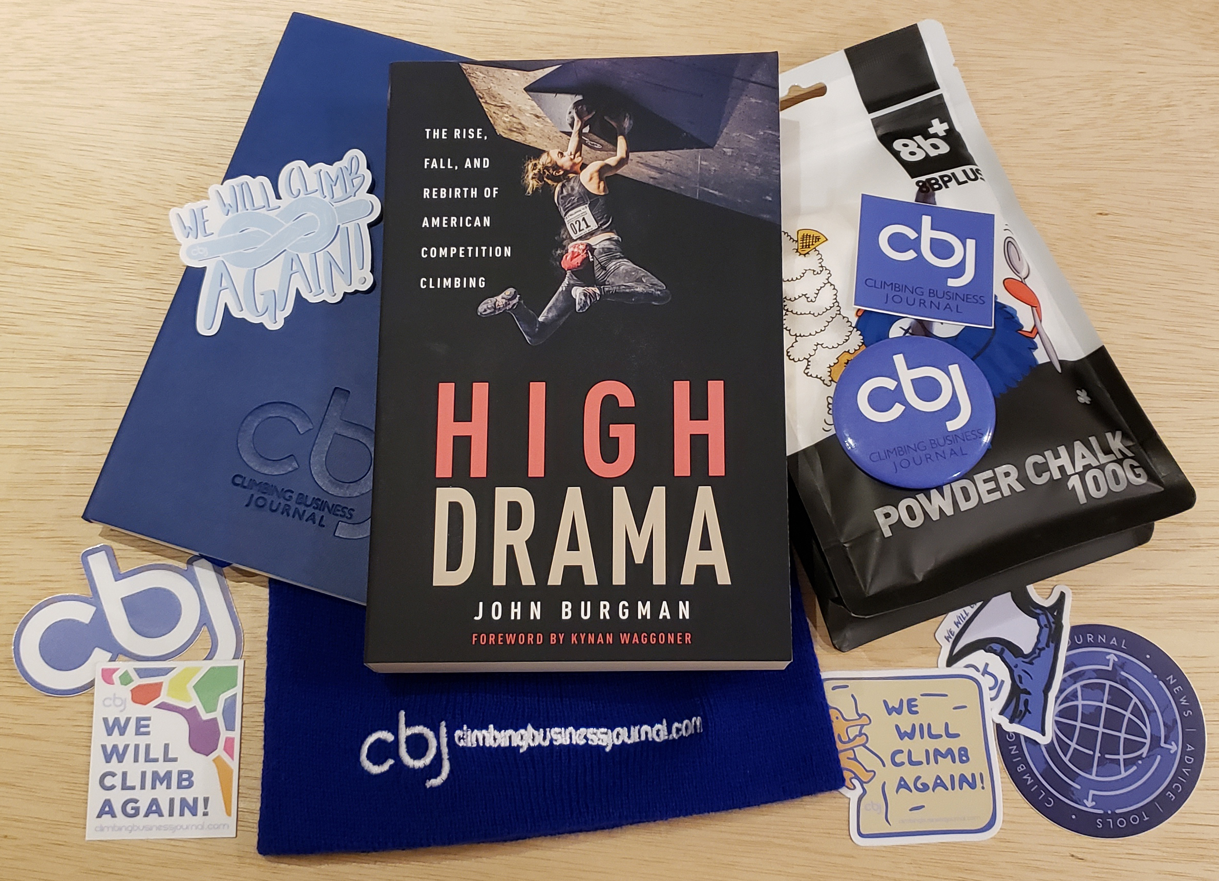 CBJ swag pack with copy of High Drama and 8Bplus chalk