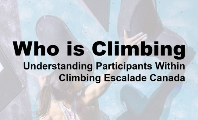 CEC survey of climbers in Canada header