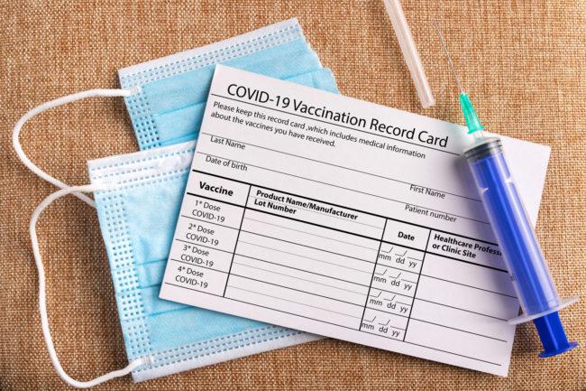 COVID-19 vaccination card