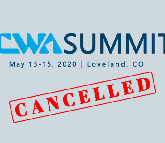 CWA Summit 2020, originally scheduled for May 13-15 in Loveland, CO, is now cancelled