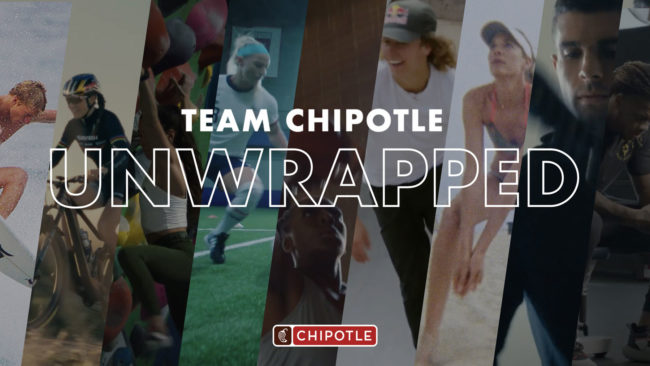 Chipotle Unwrapped athlete team