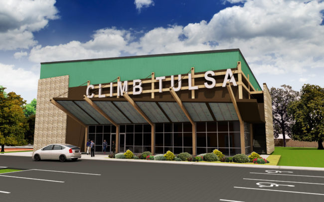Rendering of the new Climb Tulsa.
