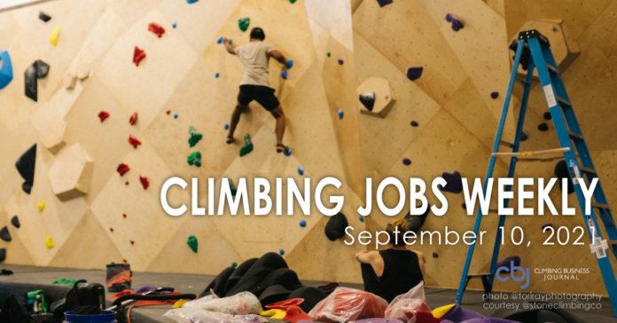 Climbing Jobs Weekly 2021 September 10