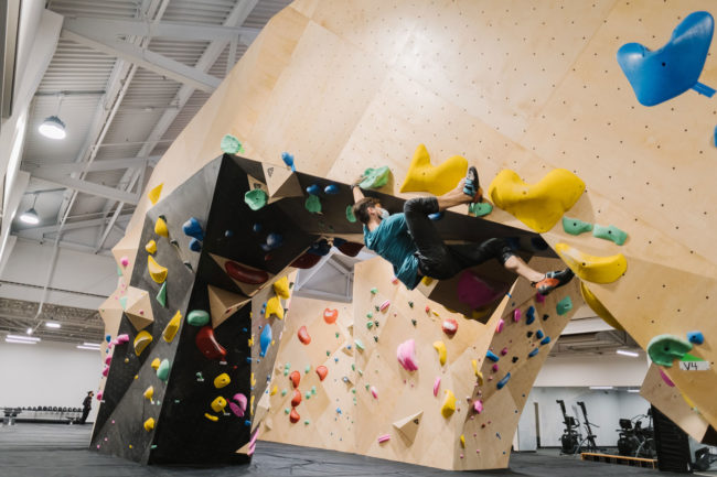 Climbing at Brooklyn Boulders Lincoln Park
