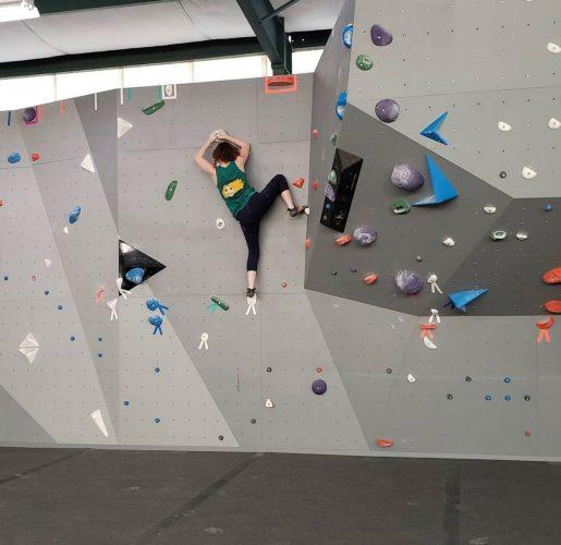 Climbing at Crux