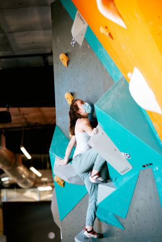 Bouldering at the Yank-N-Yard competition