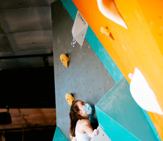 Climbing at this year's Yank-N-Yard