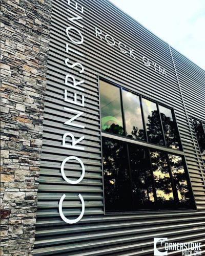 New Cornerstone Rock Gym facility exterior