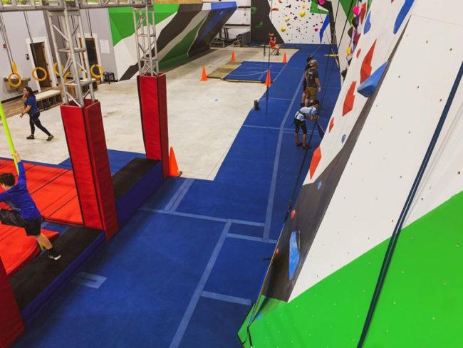 Climbing inside the new Cornerstone Rock Gym
