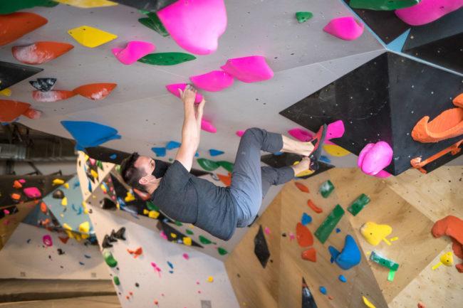 Sacher climbing at VITAL Brooklyn