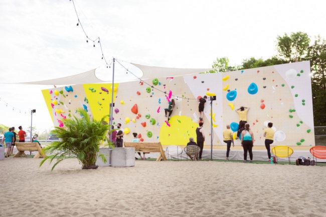 Summer beach climbing in Quebec