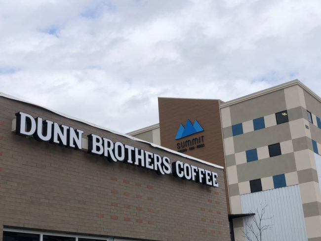 Dunn Brothers Coffee next to Summit Plano