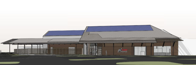 Rendering of Planet Granite The Hill, the second Planet Granite gym for Dallas, Texas. Image provided by Planet Granite