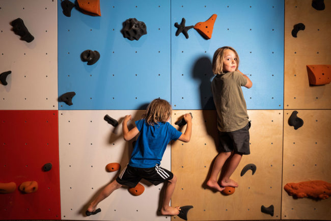 Eldo DIY climbing panels in the retail program