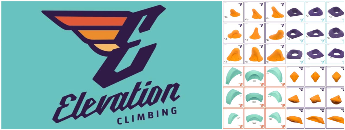 Assorted Elevation Climbing holds