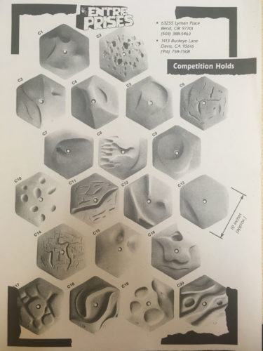More old hexagon holds from Entre-Prises