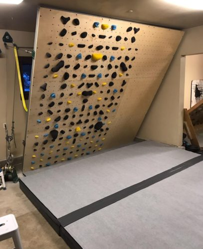 Strati flooring masterpieces for home climbing walls