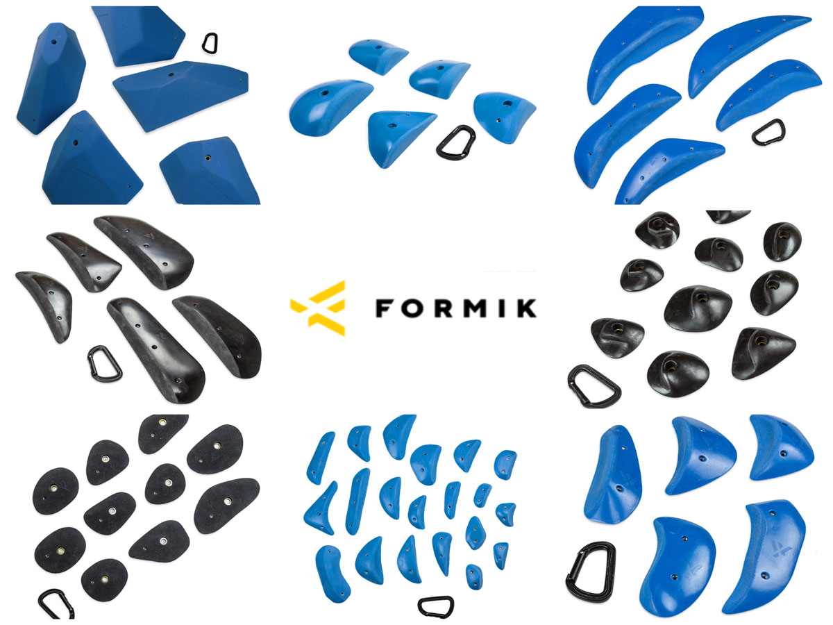 Various grips from Formik Holds