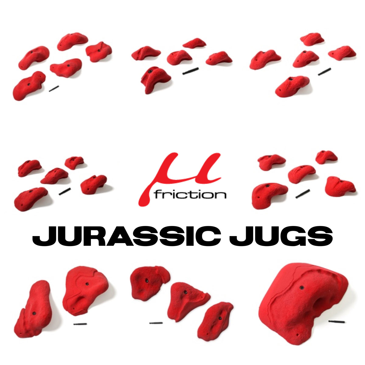 Jurassic Jugs from Friction Holds
