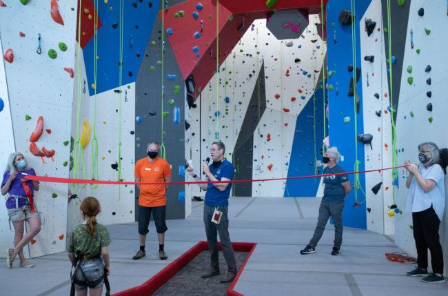 Ribbon cutting at Gravity Vault Marin