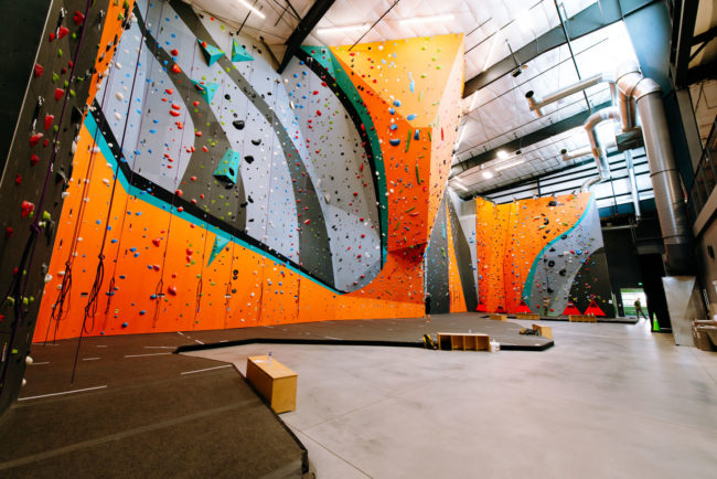 A look inside the new Stone Age North climbing gym