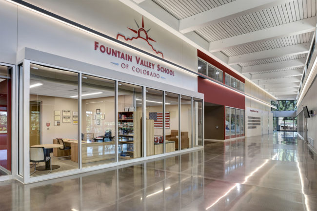 Futurist integrated the climbing gym design into the overarching plan for the athletic center's modern architecture.