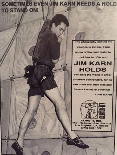 Climb It ad for Jim Karn Holds