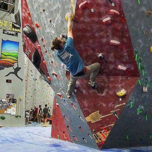 John Burgman climbing