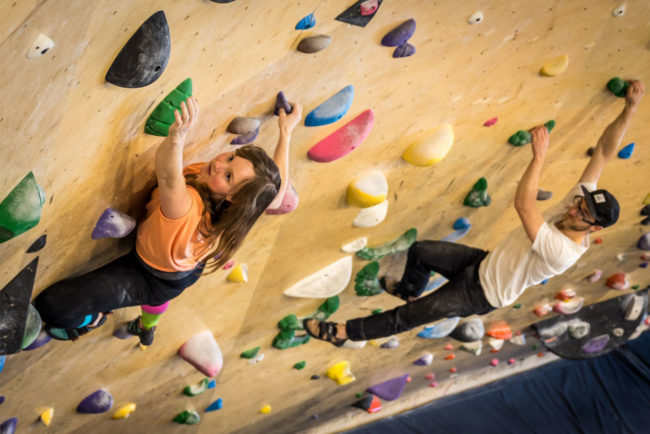Behind the Desk with Lauren Watson: climbing inside at Ground Up.