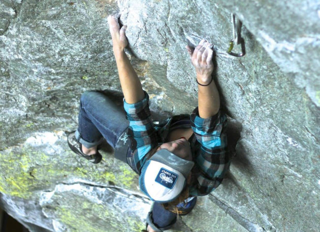 Behind the Desk with Lauren Watson: climbing in Squamish outside.
